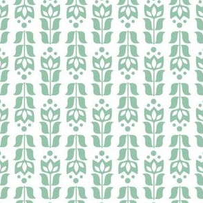 folksy flower - green