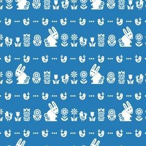 folksy meadow - blue