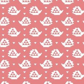 hedgehog - soft pink