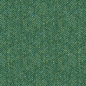 tweedy forest green herringbone