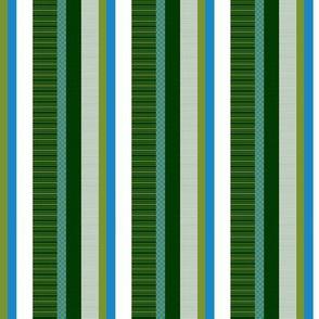 Blue-Green Stripe I