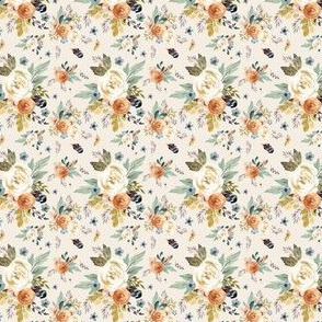"""1.75"""" Western Autumn / More Florals / Ivory"""