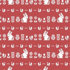 folksy meadow - red