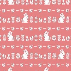 folksy meadow - soft pink