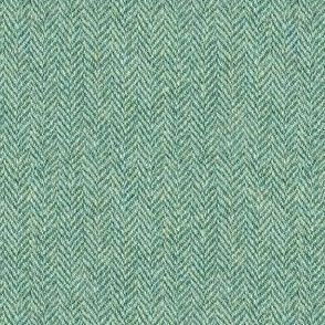faux tweedy light green herringbone