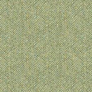 faux tweedy moss green herringbone
