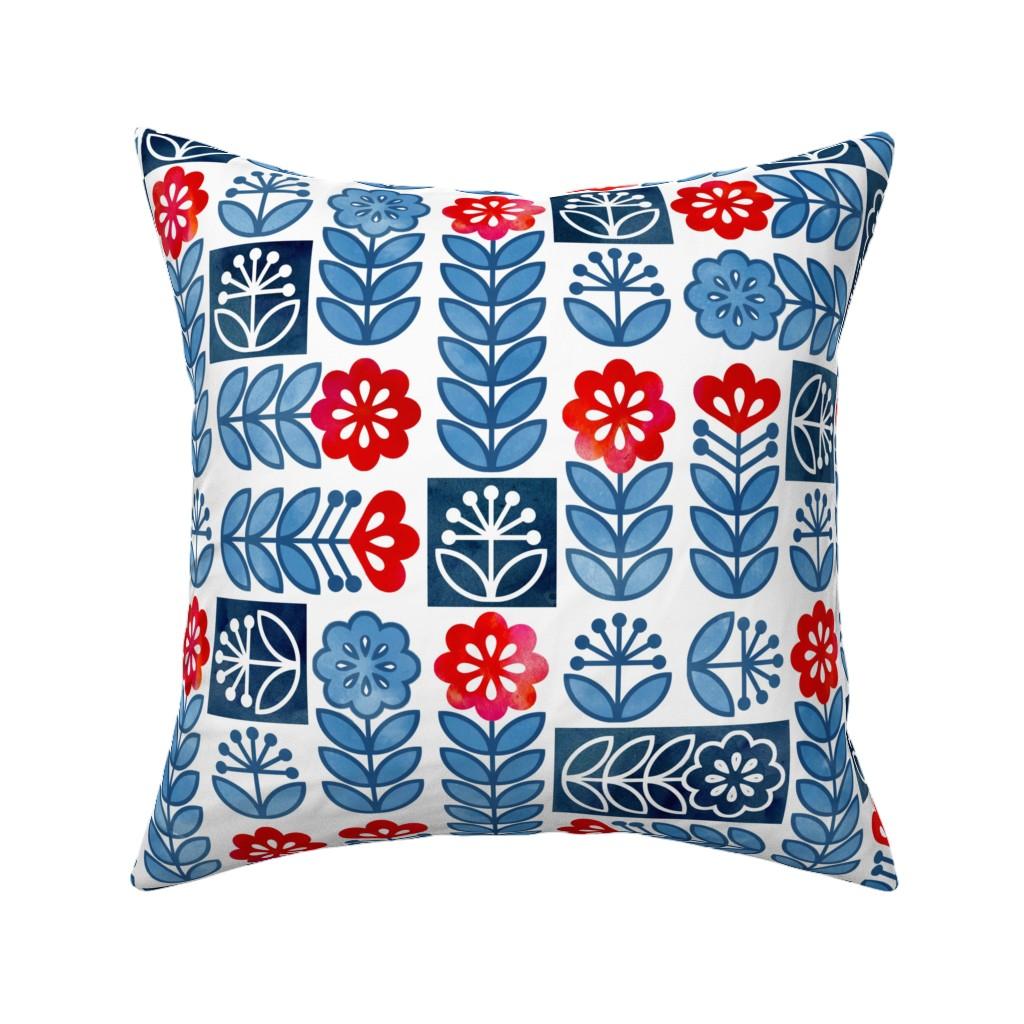 Catalan Throw Pillow featuring Scandinavian Simplicity by adenaj