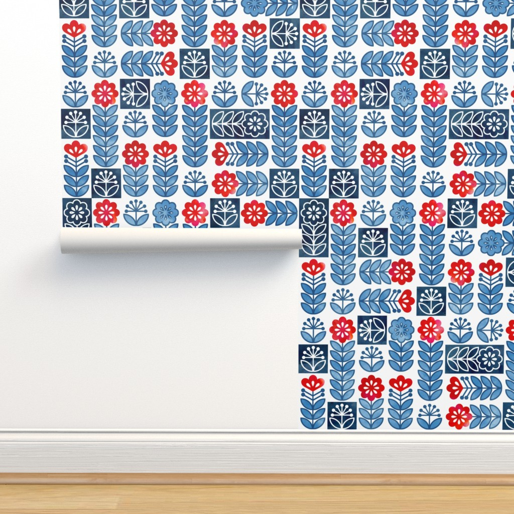 Isobar Durable Wallpaper featuring Scandinavian Simplicity by adenaj