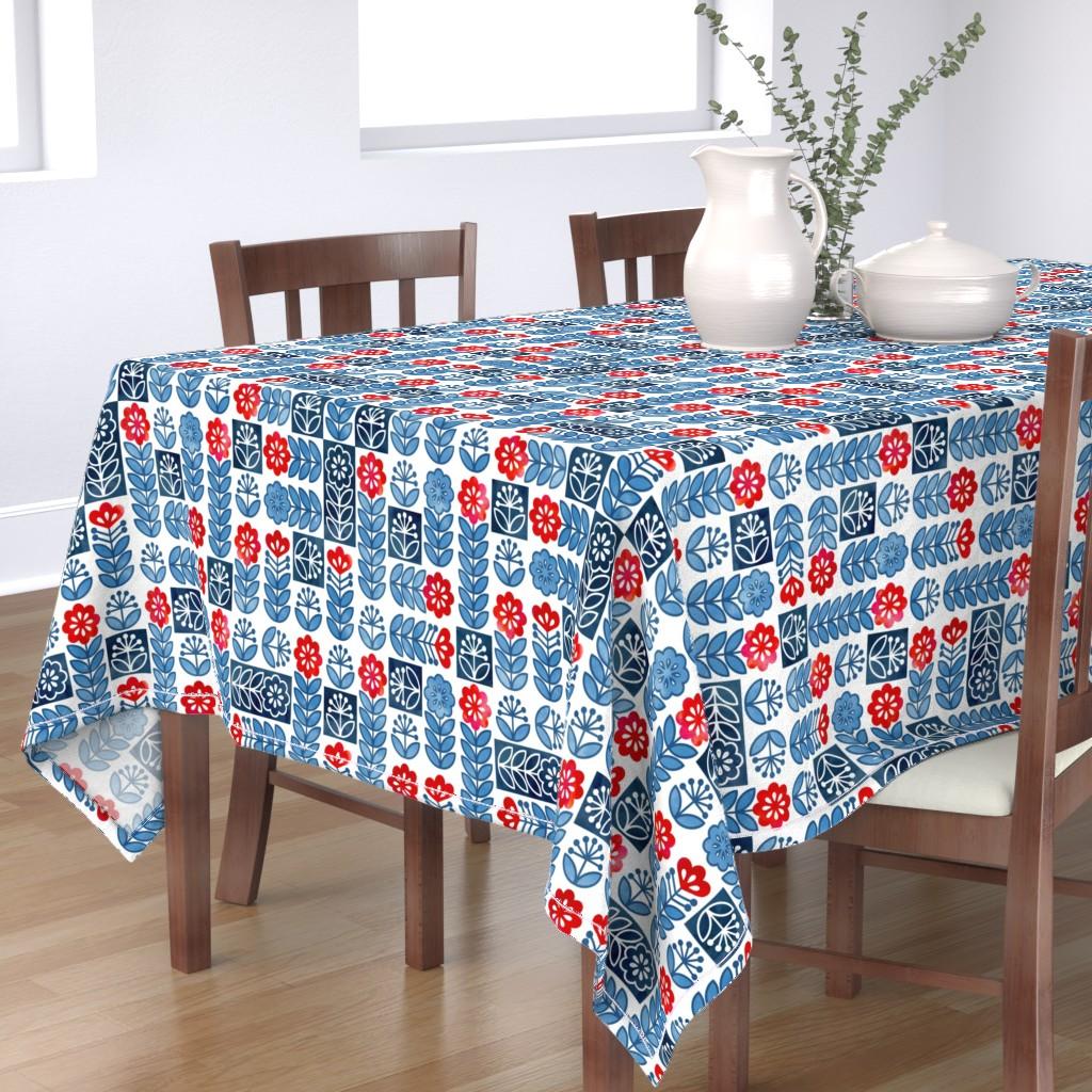 Bantam Rectangular Tablecloth featuring Scandinavian Simplicity by adenaj
