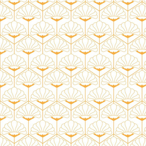 Art deco geometric flowers