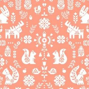 folksy creatures - peach