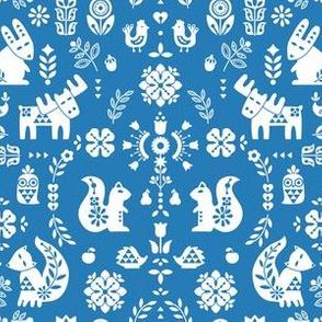 folksy creatures - blue