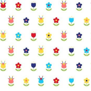Folk Art Flowers - Colorway 1