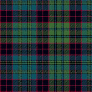 "Stewart old tartan, 6"", muted colors"
