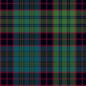 "Stewart old tartan, 7"", muted colors"