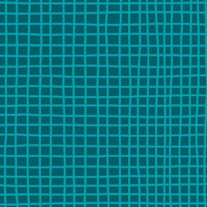 Grid on Teal