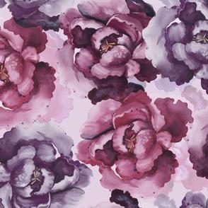 Purple Peonies Toss