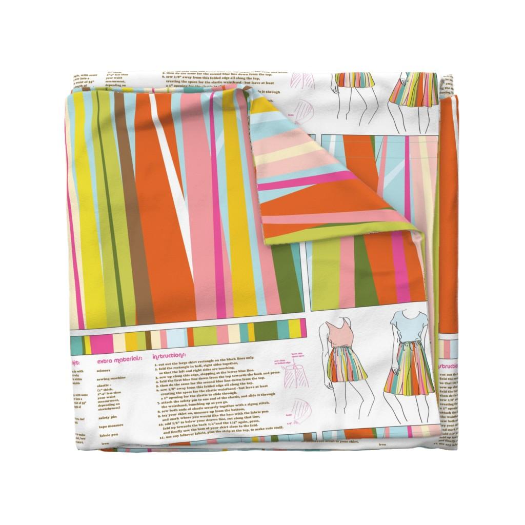 Wyandotte Duvet Cover featuring Dance All Day- skirt pattern by katrinazerilli