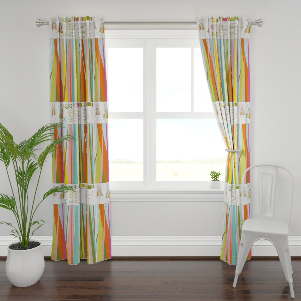 Plymouth Curtain Panel featuring Dance All Day- skirt pattern by katrinazerilli