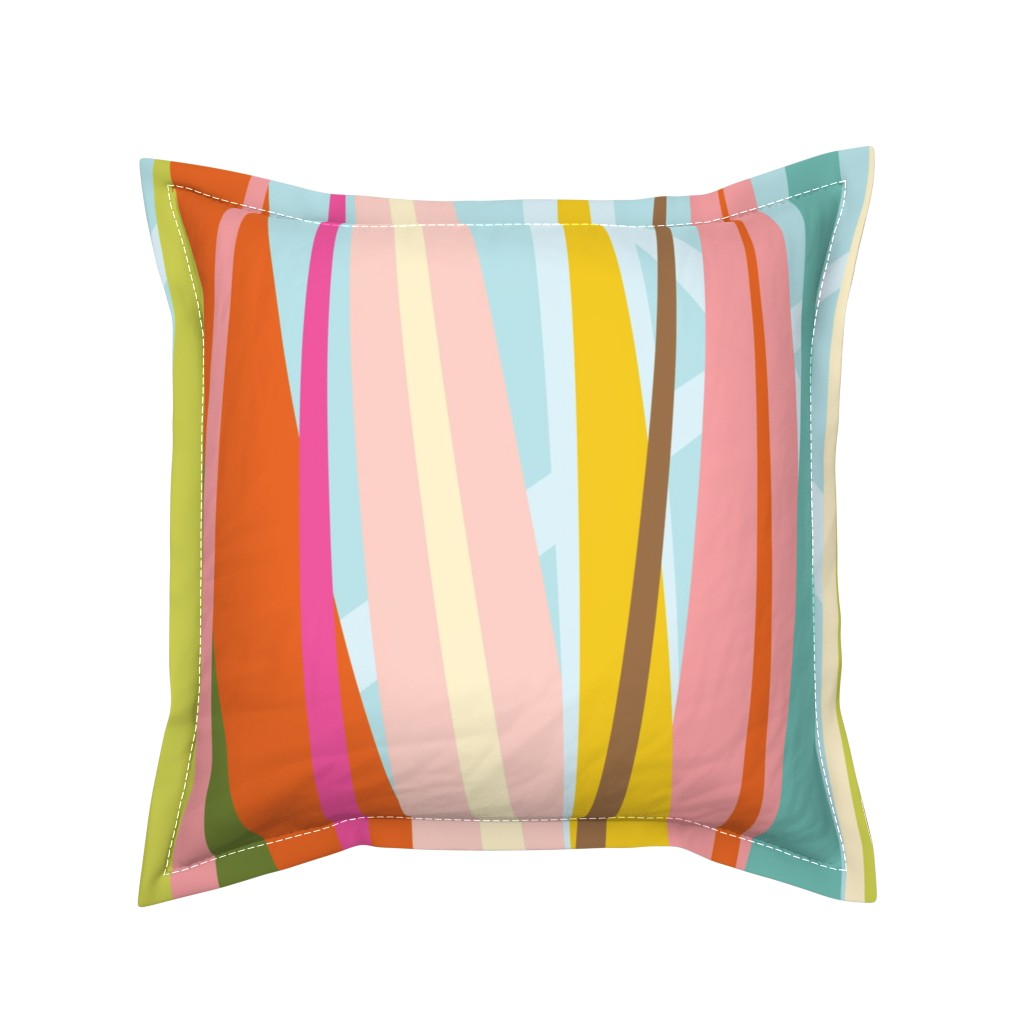 Serama Throw Pillow featuring Dance All Day- skirt pattern by katrinazerilli