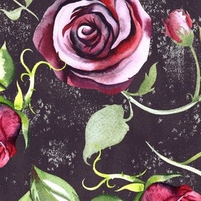 Roses_Charcoal_Gray_Texture