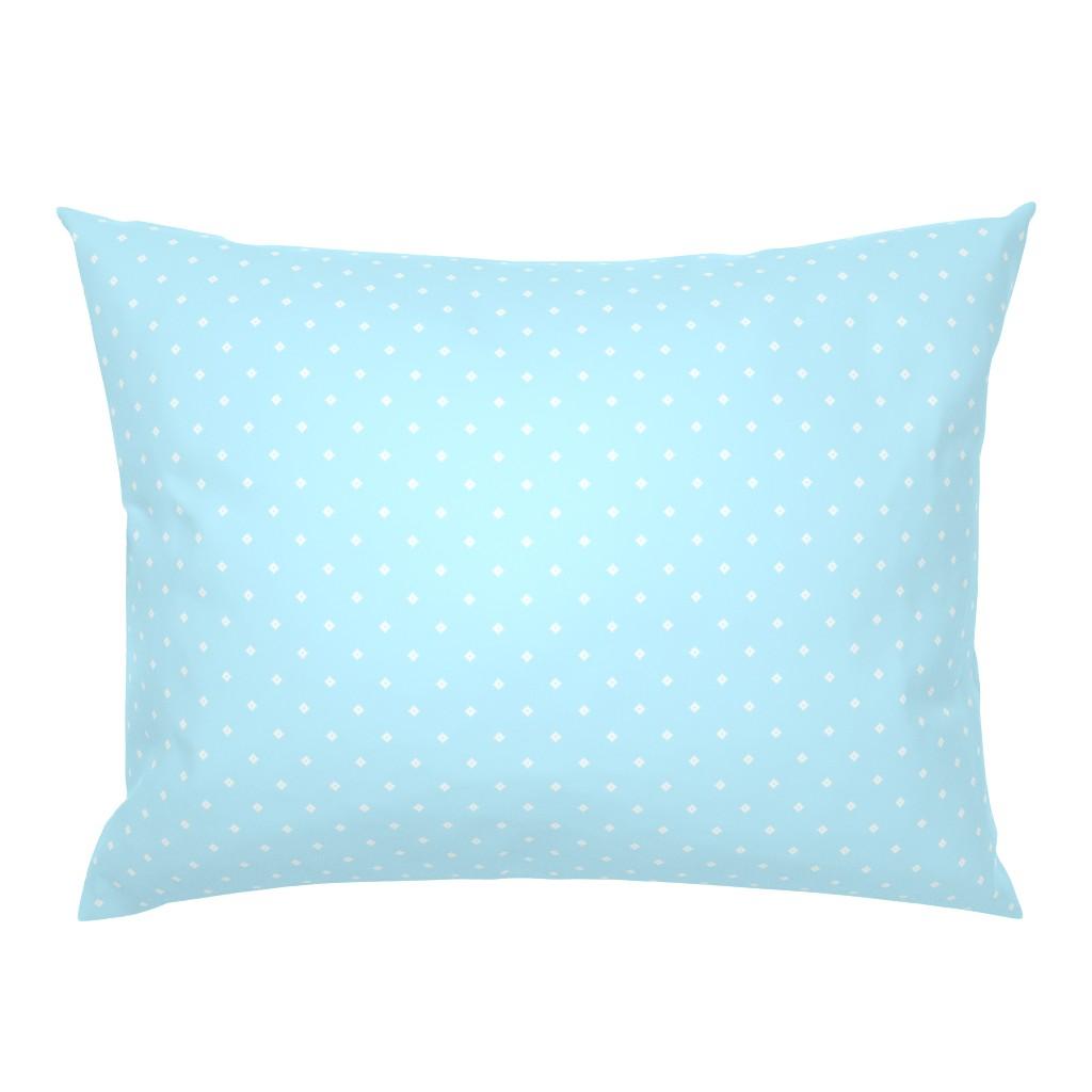 Campine Pillow Sham featuring Pixel Diamonds - Blue by thewellingtonboot