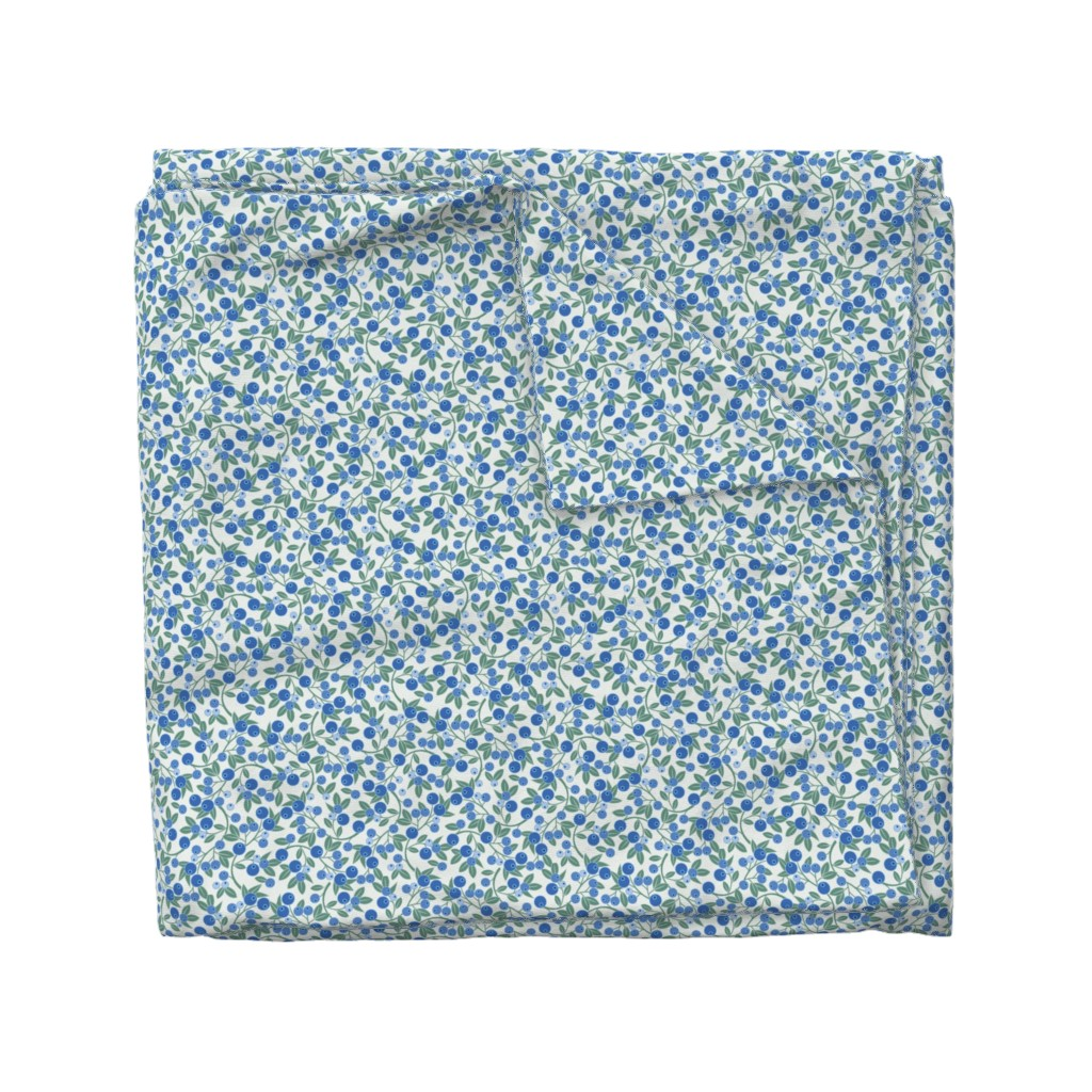 Wyandotte Duvet Cover featuring Blueberry Sprig by cindylindgren