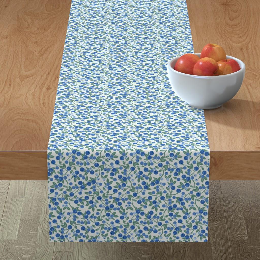 Minorca Table Runner featuring Blueberry Sprig by cindylindgren
