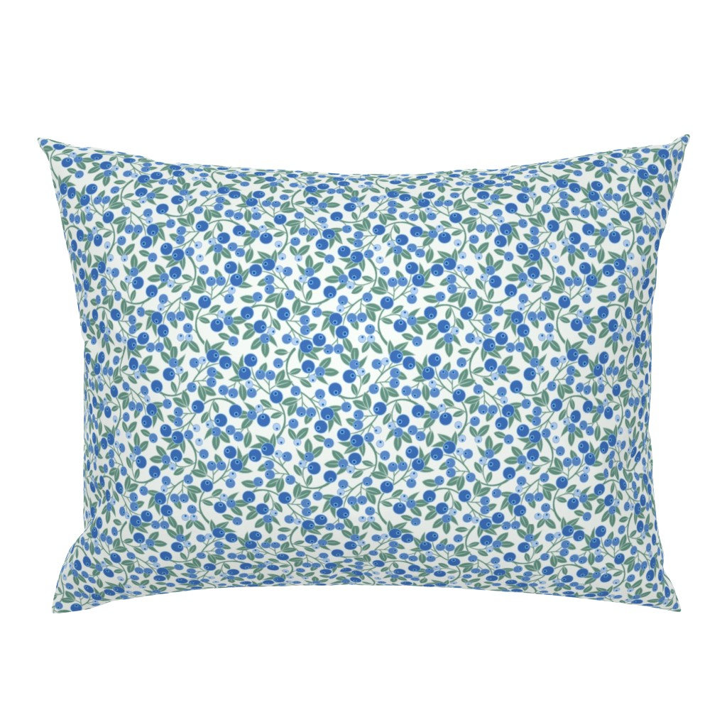 Campine Pillow Sham featuring Blueberry Sprig by cindylindgren