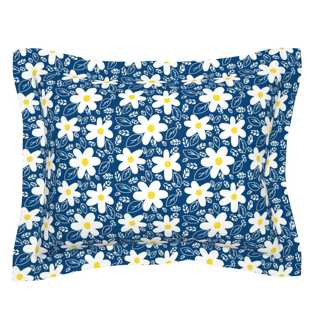 Sebright Pillow Sham featuring Sassy Summer Floral   by franbail