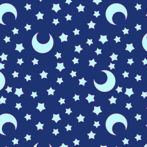 Moons and Stars for CutiEs - Large & Dark