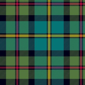 "MacLeod of Harris / green MacLeod / MacLeod hunting tartan, 6"" muted colors"