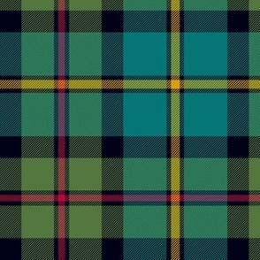 "MacLeod of Harris / green MacLeod / MacLeod hunting tartan, 7"" muted colors"