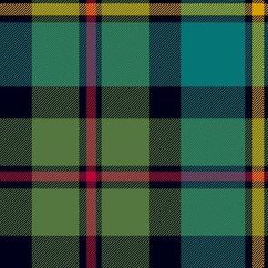 "MacLeod of Harris / green MacLeod / MacLeod hunting tartan, 10"" muted colors"