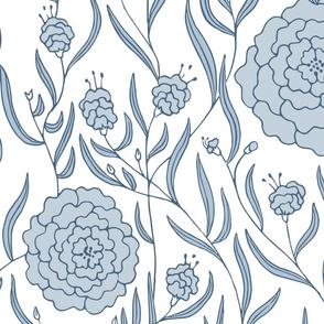 Blue & White Dahlias