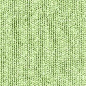 Fresh green faux knit