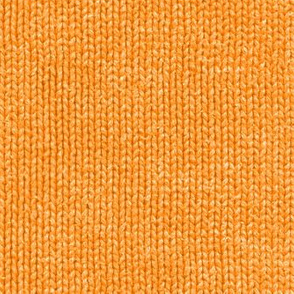 Market-day sweater: squash orange faux knit