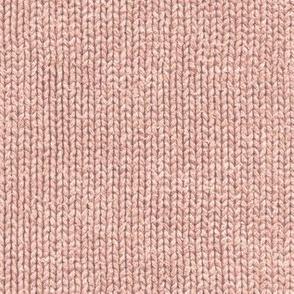 Terra-cotta pink faux knit