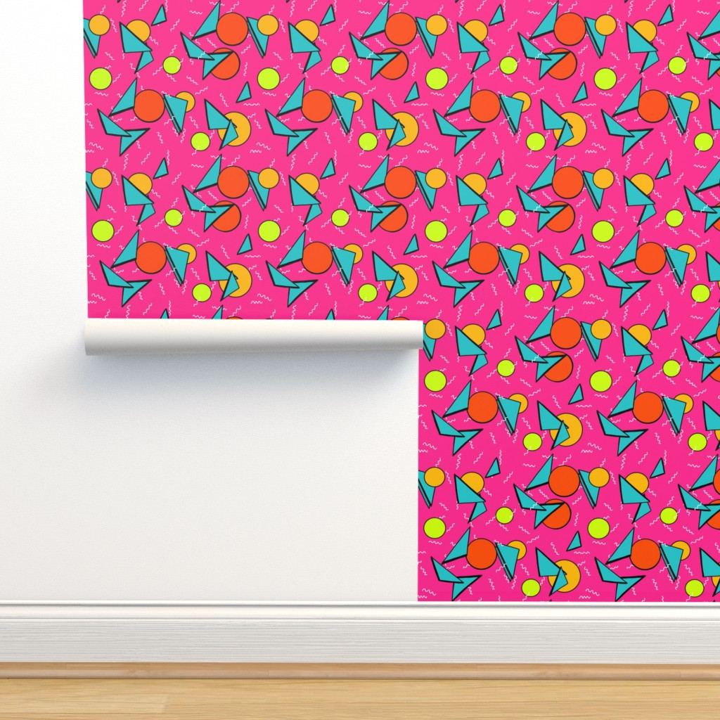 Isobar Durable Wallpaper featuring Memphis style nacho cheesiest by beesocks