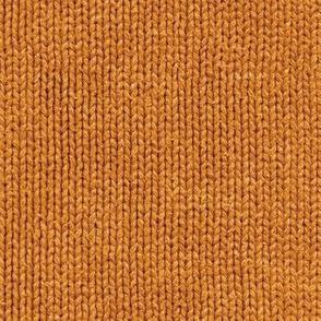 pumpkin orange faux knit