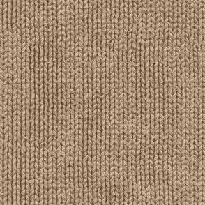 mocha brown faux knit