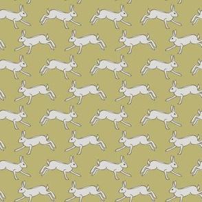 Running Hare - mustard