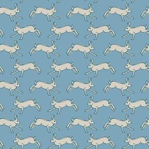 Running Hare - blue