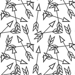 Arrow Scatter on White