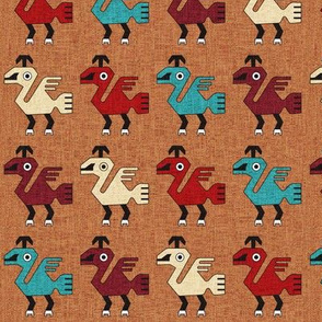 Inca Bird Motif: Clay
