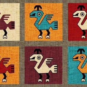 Inca Bird on Grid