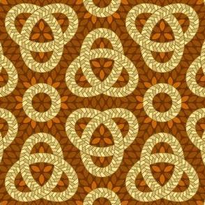06695104 : corn braid love knot : brown