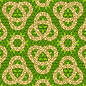 06695105 : corn braid love knot : green