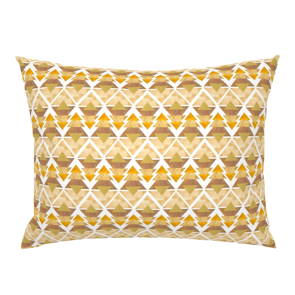 Campine Pillow Sham featuring Desert Trees on White by thewellingtonboot