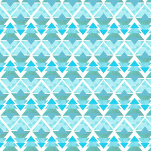 Ice Blue Geometric Forest